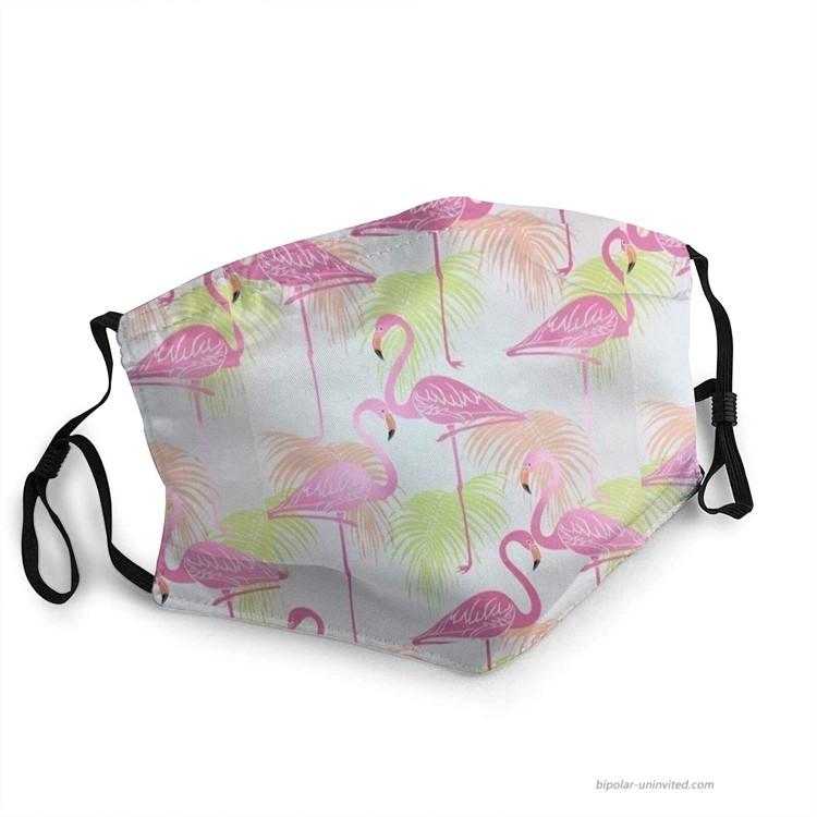 Flamingo Pattern Face Mask Men's Women's Outdoor Face Mask Reusable and Washable Adjustable Balaclavas