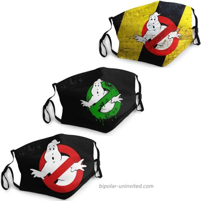 Ghostbuster Face mask with Elastic Ear Loops Breathable Protection for Travel or Everyday Use Black at  Men's Clothing store