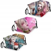 Harley Quinn Face Masks Filter Activated Carbon Dust Cover Anti-Dust Washable Reusable for Cycling Camping Trip at  Men's Clothing store