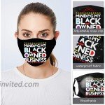 Minding My Black Owned Bus-ine-ss Face Mask Bandanas Mouth Cover Adjustable Reusable Washable Balaclava Unisex for Warm at Men's Clothing store