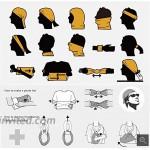 Motusamare Unisex UV Protection Face Bandana Reusable Half face Cover Mask Scarf Neck Gaiter Balaclava for Men Women6pcs