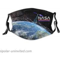 Nasa Exploration Of The Space Face Mask Fashion Scarf With 2 Filter Pocket Washable Bandanas Adjustable Balaclava Reusable Fabric at  Men's Clothing store