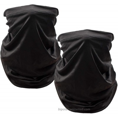 Neck Gaiter Face Mask Reusable(2 Pack),Outdoor Breathable Face Cover Balaclava UV Sun Protection Headwear,Elastic Face Mask for Men and Women Black at  Men's Clothing store