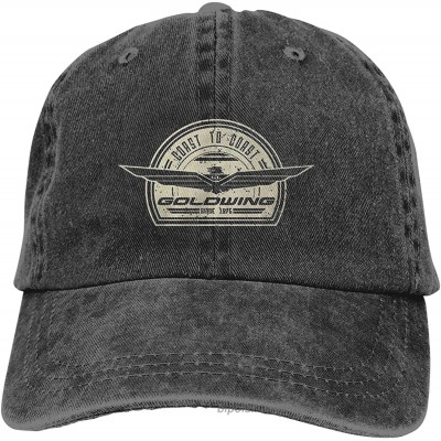 One Nation Design Goldwing Retro Sports Cool Adult Denim Hat with Outdoor Casual Sports Cap Black at  Men's Clothing store