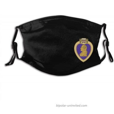 Purple Heart Us Army Veteran Military Medal Face Mask Unisex Adjustable Wind Mask Balaclava at  Men's Clothing store