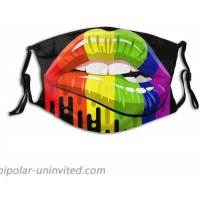 Rainbow LGBT Gay Pride Face Mask for Adults with 2 Filters Breathable Washable Reusable Balaclava