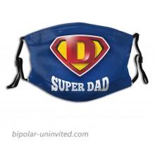 Super Dad Face Mask Breathable Fashion Balaclavas Reusable Scarf Dustproof Adjustable Washable Bandana at  Men's Clothing store