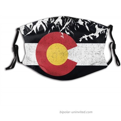 UNSUWU Colorado Flag Moutain Reusable Washable Face Bandanas Funny Pattern Adjustable Earloop Breathable at  Men's Clothing store