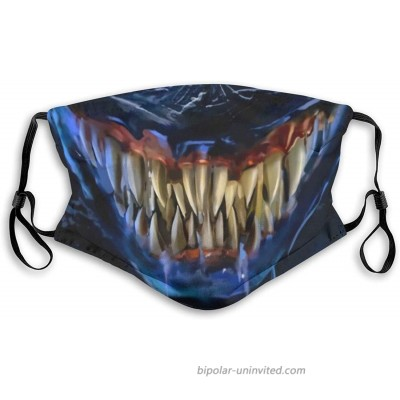 Venom Unisex Washable Reusable Soft Face Balaclava Adjustable Protective Fabric Face Cover for Adult at  Men's Clothing store