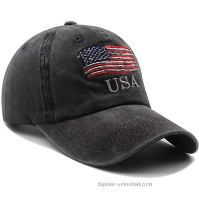American Flag hat Tactical Embroidered Operator Cap Baseball Cap for Men and Women Adjustable Vintage Washed Cotton Cap Black, at  Men's Clothing store