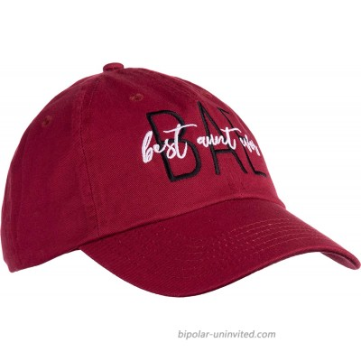 BAE Best Aunt Ever | Cute Funny Niece Nephew New Baby Dad Style Baseball Hat for Women-Cardinal