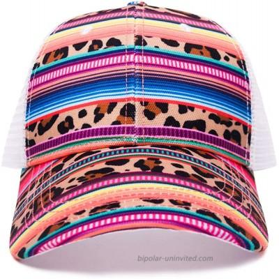 Baseball Hat Cap Mesh Back Serape Cheetah Leopard Cactus Adjustable Snapback Trucker Hats for Women Serape Leopard at  Women's Clothing store