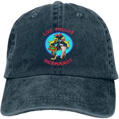 Breaking-Bad-Los-Pollos-Hermanos Unisex Vintage Washed Distressed Baseball-Cap Twill Adjustable Dad-Hat Navy at  Men's Clothing store