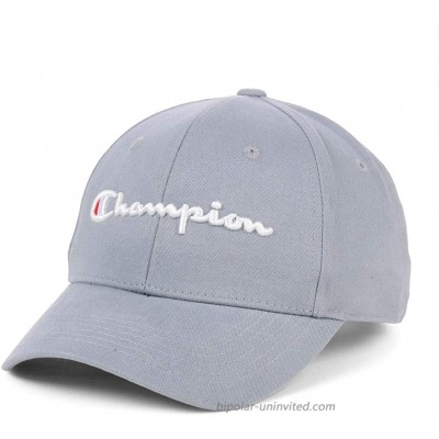 Champion Classic Script Adjustable Hat Light Gray White at  Men's Clothing store