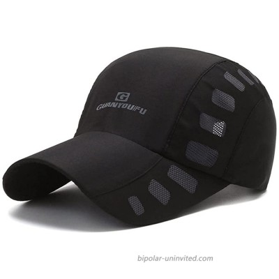 Clape Running Baseball Cap Lightweight Quick Drying Summer Sports Sun Caps Breathable Outdoor Visor Hat CP23-Black at  Men's Clothing store