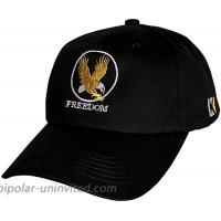 KUBILA Animal Freedom Bald Eagle Unisex Hat Embroidery Design Baseball Caps for Men Women Black Gold White