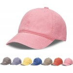 Unisex Adjustable Top Hats for Women Mens Baseball Caps Solid Baseball Hats Cotton Dad Hats Light Pink at Women's Clothing store