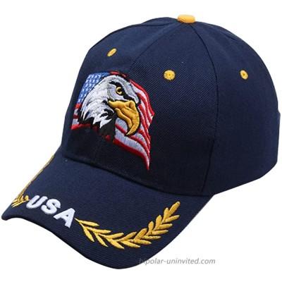 USA American Flag Eagle Baseball Cap Men and Women Outdoor Trendy Cap Embroidered Baseball Cap Navy Blue American Flag Eagle hat at  Men's Clothing store