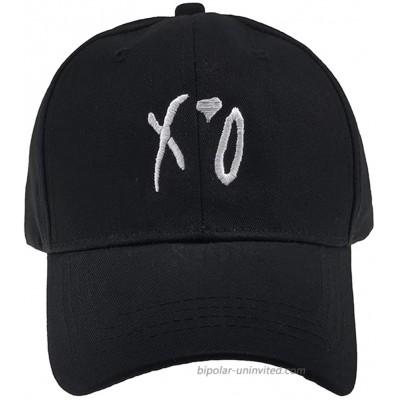 XO Letter Embroidred Baseball Hat Red Love Cap Unisex Adjustbale Strapback Dad Hat Black at  Men's Clothing store