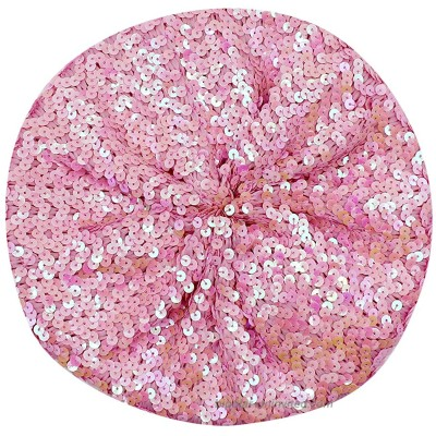 AIBEARTY Women Girls Sparkly Sequin Beret Hat Fashion Fun Stretch Beanie Cap Headwear for Festival Party Club Halloween Pink at  Women's Clothing store