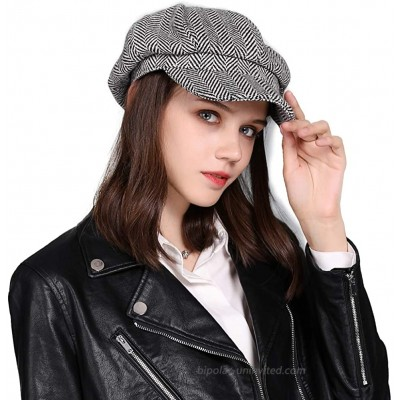 Comhats Winter Newsboy Hat for Women Wool Acrylic Warm Cabbie Beret Cap Gatsby Visor Ladies Black at  Women's Clothing store