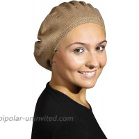 Landana Headscarves Beret with Gold Crystal Studs-Brown at  Women's Clothing store