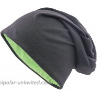 shenky Jersey Beanie Reversible Multiple Colors XXL Black-Green Reversible at  Women's Clothing store