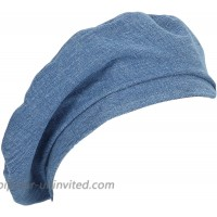 WITHMOONS Beret Hat Denim Cotton British Style Strap Adjustable JDF1177 Blue at  Women's Clothing store
