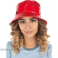 Adjustable Bucket Hat for Women Rainhat - Red at  Women's Clothing store