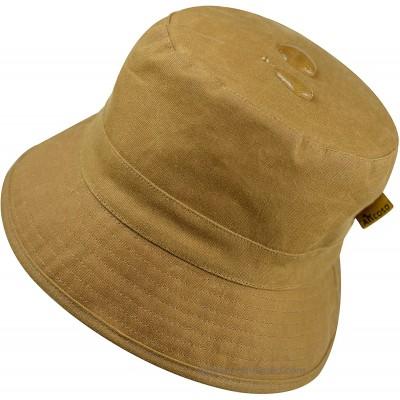 Bucket Hat Waterproof Wax Cotton with Lining Hunting Fishing Hat Sun Cap for Outdoor for Women Men