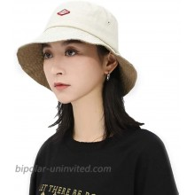 Croogo Wide Brim Outdoor Summer Cap Hiking Fisherman Cap Stylish Bucket Hat Embroidered Packable Travel Hat Beige-GD67 at  Women's Clothing store