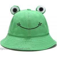 Cute Frog Bucket Hat Funny Beach Sun Hat Fishing Hat for Women Teen Girls Adults Green