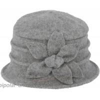Dahlia Women's Winter Hat - Wool Vintage Cloche Bucket Hat Daisy Flower Gray at  Women's Clothing store