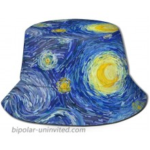 Glowing Moon and Starry Sky Bucket Hat Reversible Fisherman Cap Beach Sun Hats for Men Women Boys and Girls Black at  Women's Clothing store