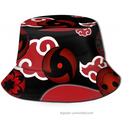 Hot Anime Akatsuki Naruto Pattern Red Cloud Bucket Hat Simple Breathable Sun Hat Gorgeous Sun Protection Fisherman Hat Outdoor Cap Hunting Fashion Caps for Travel Beach Summer at  Women's Clothing store