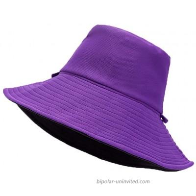 jinlvqi Womens Fisherman's Hat Multifunction Adjustable Solid Colo Fishing Fisherman Bucket hat Purple at  Women's Clothing store