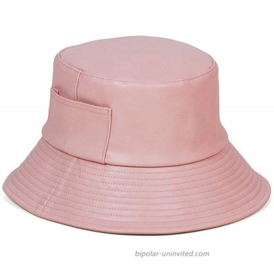 Lack of Color Women's Wave Faux-Leather Bucket Hat Pink Small Medium at  Women's Clothing store