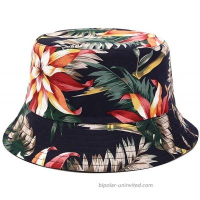 OCTEEN Bucket Hats Summer Travel Sun Hat Outdoor Cap Beach Hat Unisex Reversible at  Women's Clothing store