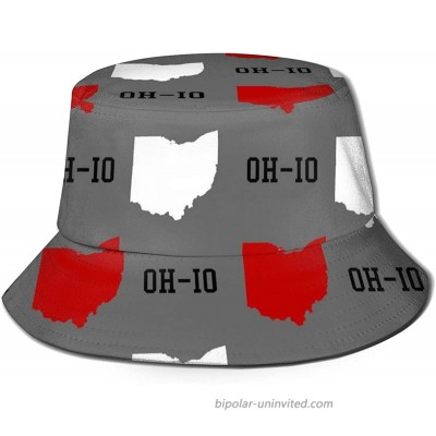 Ohio State Gray Bucket Hat UV Sun Protection Fishman Hats Packable Travel Summer Boonie Cap for Men Women at  Women's Clothing store