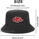 Red Cloud Logo Embroidery Summer Hat Women Men Bucket Cap The Design Flat Visor Fisherman Hat Anime Sun Hat 2 at Women's Clothing store