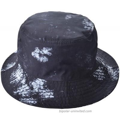 Reversible Bucket Hat for Women Men Fisherman Bucket Sun Hat Packable Rain Hat Black at  Women's Clothing store