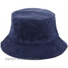 Surkat Cotton Solid Color Bucket Hat Vintage Fisherman Cap Sun Protection Hat Navy at  Women's Clothing store