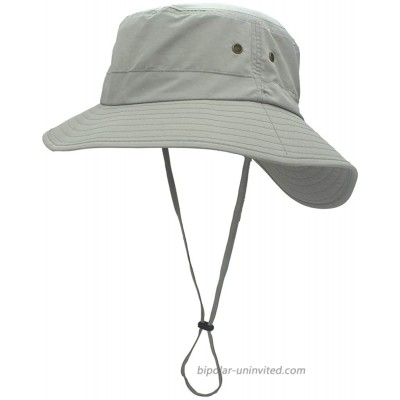 SYcore Outdoor Summer Packable Beach Wide Brim Sun Hats for Men Women Teens Girls Boys Unisex Adjustable Cool UV Protection Fisherman Bucket Hat for Safari Hiking Gardening Cover NeckLight Grey