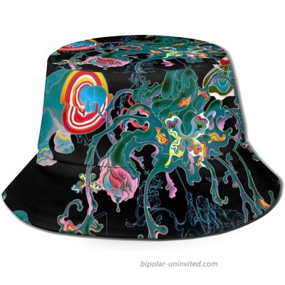 Unisex Colorful Trippy Print Travel Bucket Hat Summer Fisherman Cap Sun Hat at  Women's Clothing store