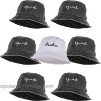 Vintage Embroidered Bucket Hat for Women Bundle 1 Bride & 6 Squad 7 Pack at  Women's Clothing store