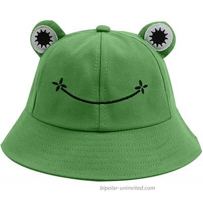 Women Cute Frog Bucket Hat Cotton Winter Summer Travel Bucket Unisex Beach Sun Protection Outdoor Cap at  Women's Clothing store