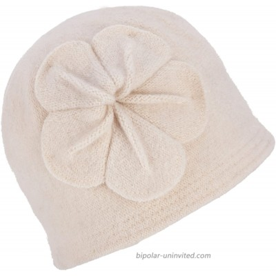Womens Gatsby 1920s Winter Wool Cap Beret Beanie Bucket Floral Hat A289 White at  Women's Clothing store