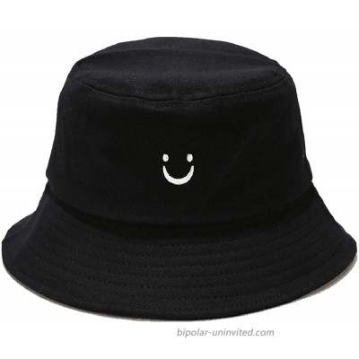 XuoAz Women Smile-Face Bucket-Hat Unisex Travel-Packable Summer Hat Protection Smile-Face M Smile-Face M at  Women's Clothing store