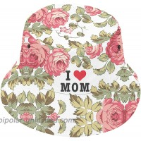 YIEASY Floral Flower Bucket Hat Women I Love My Mom Mother Gift Wife Godmother Grandma in Law Sun Beach Reversible Summer Lightweight Outdoor White at  Women's Clothing store