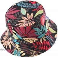 ZLYC Fashion Bucket Hat Summer Fisherman Cap for Women Men Leaves Colors at  Women's Clothing store